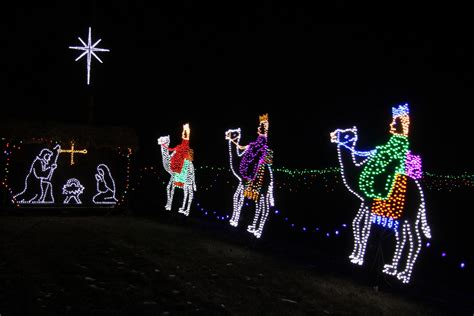 christmas lights jesus three kings free stock photo