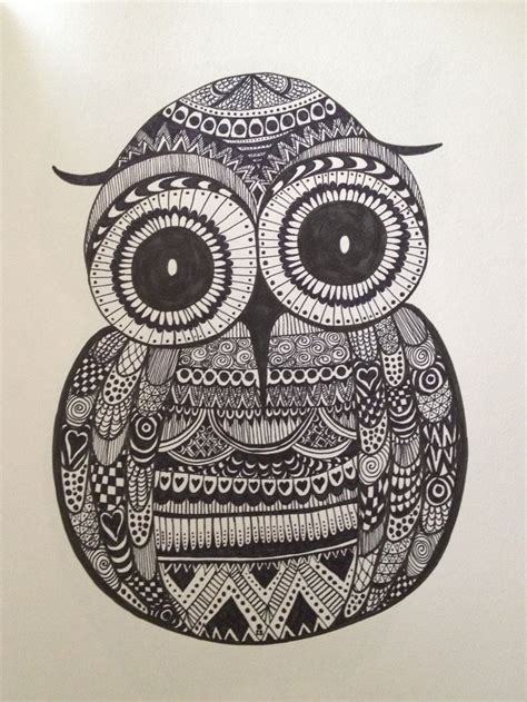 doodle owl 159 best zentangle owls images on owl