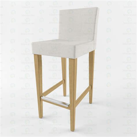 Henriksdal Bar Stools by 3d Model Henriksdal Bar Stool In The Style Of Minimalism