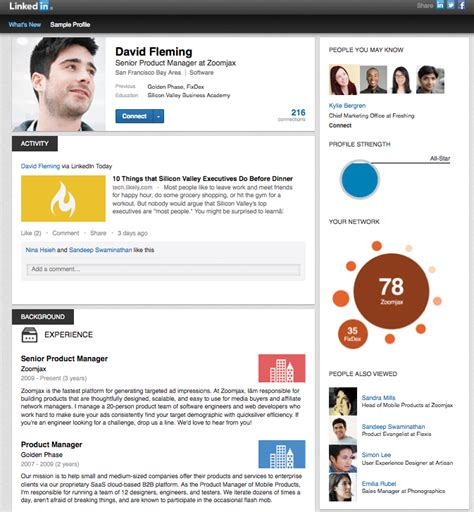 Resume Examples Experience by A New Look For Linkedin Profile Pages