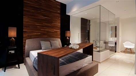 bedroom attached bathroom design young modernist condominium interior design by nu infinity