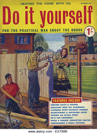 do it yourself magazine 1950s uk magazine cover stock photos 1950s uk