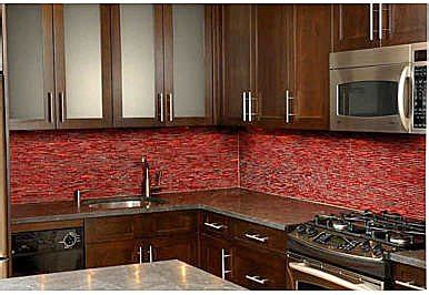 Red Kitchen Backsplash by Kitchen Red Tile Kitchen Design Photos