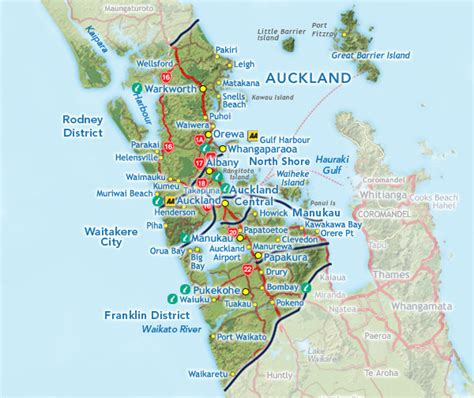 Auckland Search New Zealand Map Auckland