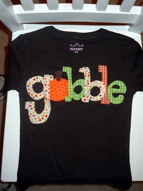 thanksgiving shirts thanksgiving shirt appliqued gobble for children toddler or baby shirt or onesie for fall