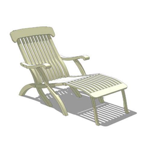 Deck Lounge Chair by Titanic Deck Lounge Chair 3d Model Formfonts 3d Models