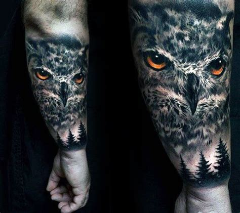 owl tattoo on forearm 40 realistic owl designs for nocturnal bird