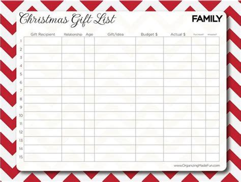 present list template 27 gift list templates free printable word