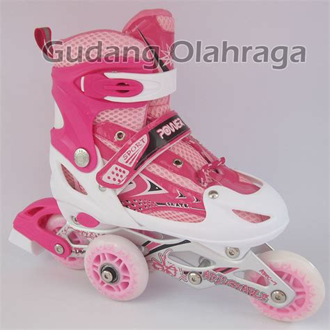 Roller Blade Sepatu Roda Led Ungu Purple Kuning jual sepatu roda bajaj harga grosir inline skate anak dan dewasa gudang olahraga