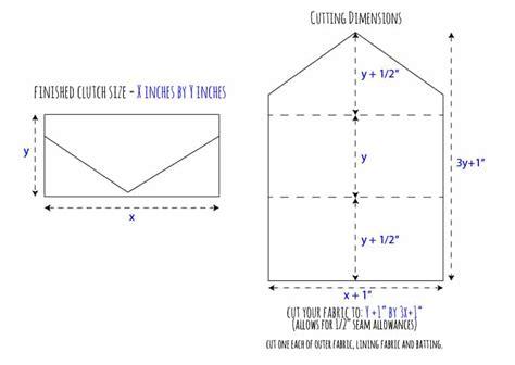 sewing pattern envelope template diy vintage wedding dress envelope clutch tutorial