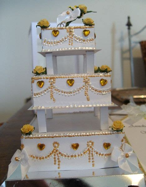 3 Tier Cake Card Template by 3 Tier Wedding Cake By Maxine Using A Card