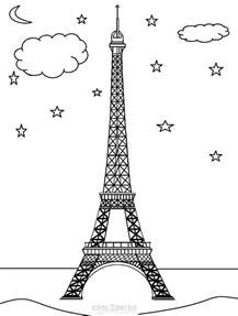 eiffel tower coloring pages printable eiffel tower coloring pages for cool2bkids