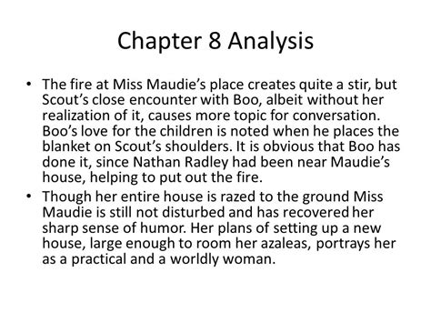 theme of to kill a mockingbird chapter 7 to kill a mockingbird chapters 7 8 notes ppt video