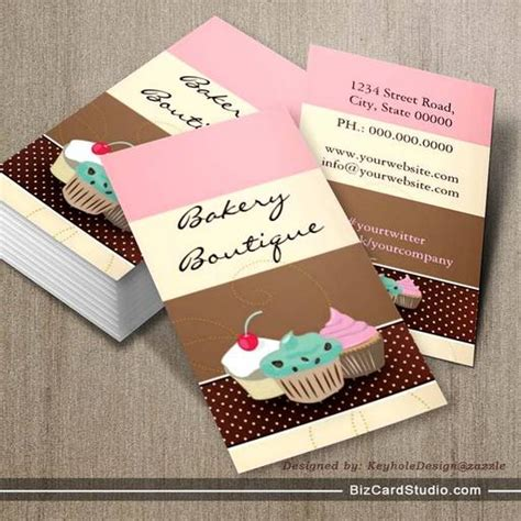cake business cards templates bakery or cake boutique business card templates