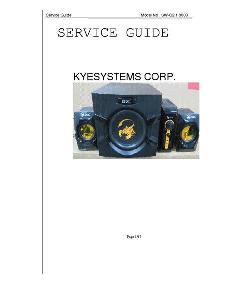 Speaker Genius Sw G 2 1 3000 genius sw g2 1 3000 speakers ver1 0 service manual