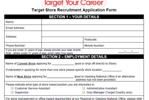 printable job application for marshalls image gallery target application