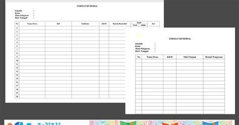 format buku remedial unduh format remedial dan pengayaan kurikulum 2013 sd