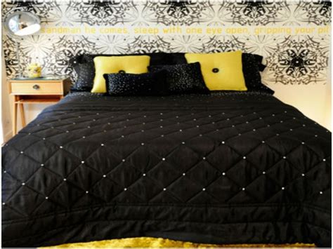 Yellow And Black Bedroom Ideas by Black White And Yellow Bedroom Black White And Yellow
