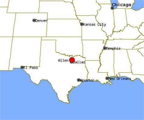 allen texas map allen profile allen tx population crime map