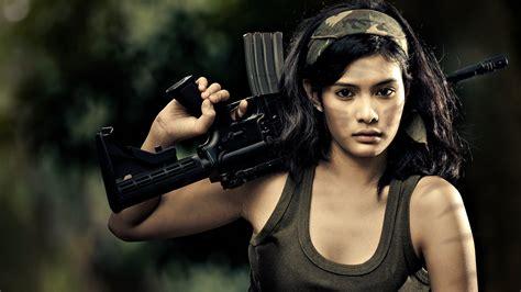 wallpaper girl military girls guns full hd wallpaper and background image