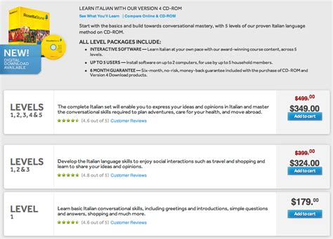 rosetta stone italian reviews rosetta stone italian from point a to