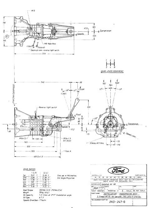 Ford pinto bellhousing pattern
