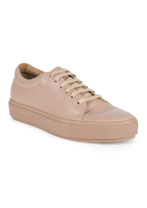 acne sneaker acne acne studios turnup leather sneakers shoes