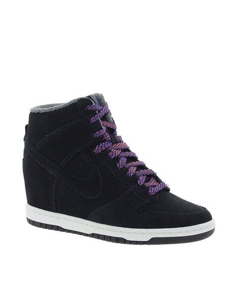 Nike Wedges Sky Dunk Colour Kode Ss6186 nike nike dunk sky high top black wedge sneakers at asos