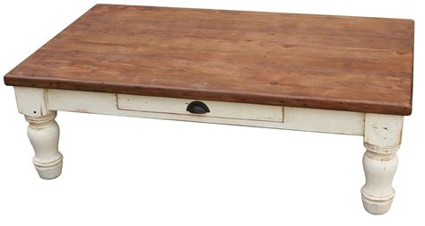 handmade country farm turned leg coffee table by mortise