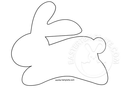 easter rabbit template free easter crafts bunny pattern easter template