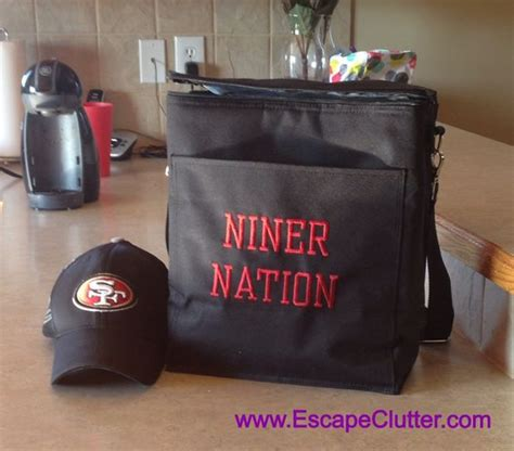 gifts for 49ers fans gifts for picnic thermal tote nfl football