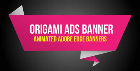Origami Advertising - origami ads banner theme for u