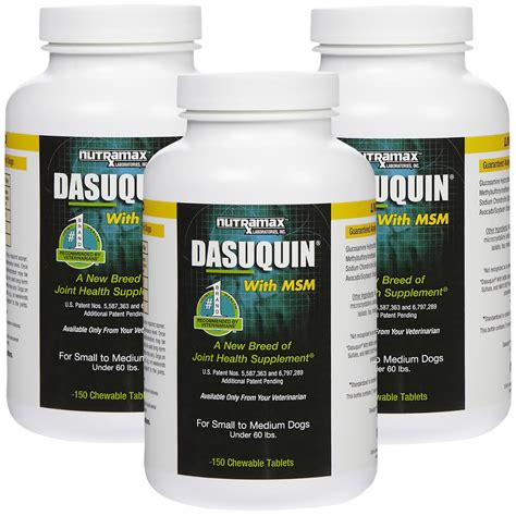 dasuquin for dogs 3 pack dasuquin for small medium dogs 60 lbs with msm 450 chewable tabs