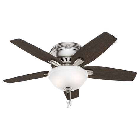 hunter 42 inch ceiling fan 42 inch hunter fan newsome ceiling fan with light