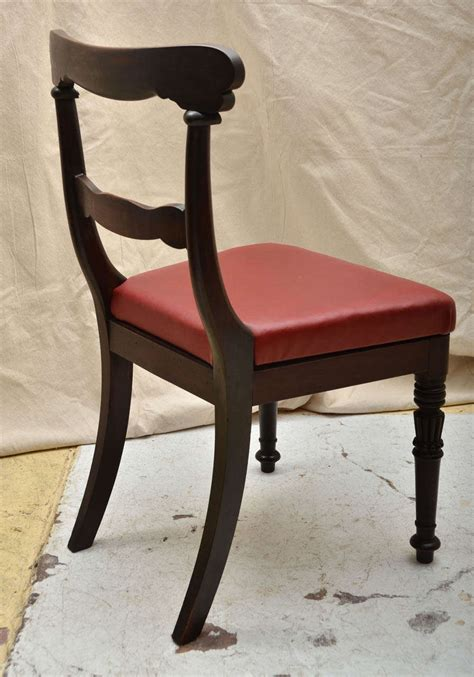 four wm 1v anglo indian carved dining chairs for sale at