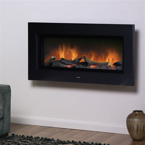 modern electric wall fires trendy contemporary dimplex sp16 black wall mounted