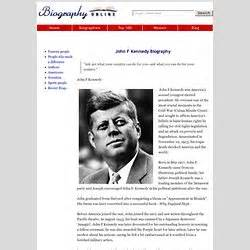 john f kennedy online biography independant study pearltrees
