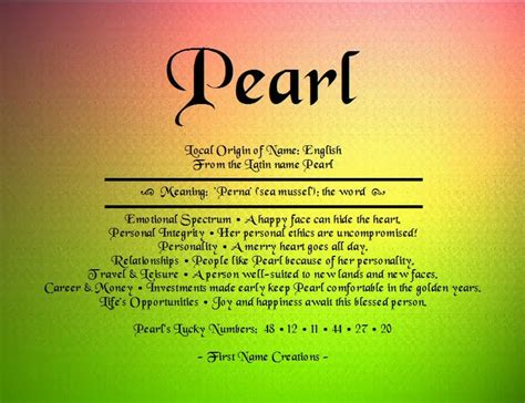 what is the origin of the word 1000 images about all things pearl on the