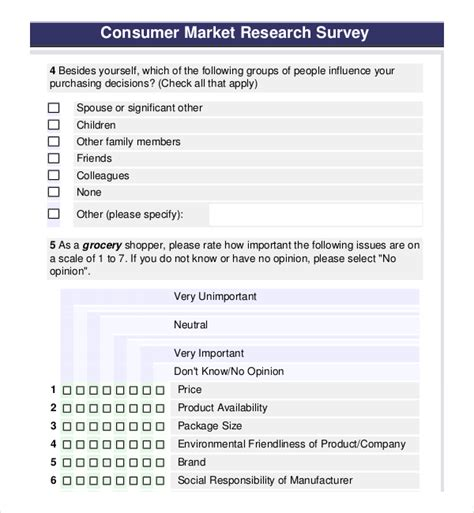 research survey template product survey template free premium