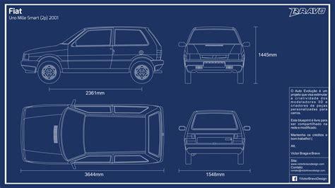 create blueprints blueprint fiat uno mille 2p 2001 by victorbravodesign on