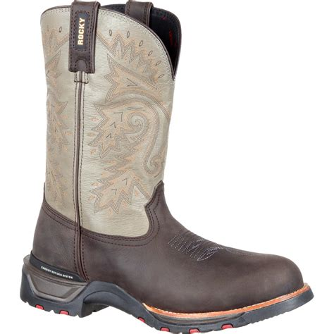 waterproof comfortable boots rocky technoram men s comfortable waterproof brown