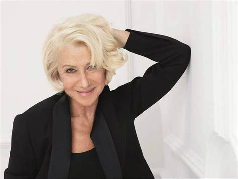 helen mirren hairstyles for l oreal l oreal brand ambassador helen mirren opens up about her