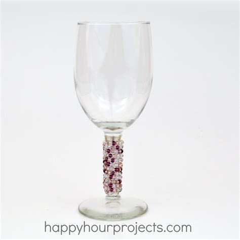 Dollar Wine Glasses Beaded Dollar Store Wine Glasses Happy Hour Projects