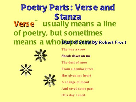 what are sections of a poem called 4th grade poetry