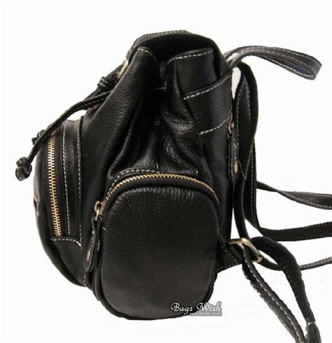 Small Black Leather by Leather Womens Backpack Small Black Leather Backpack