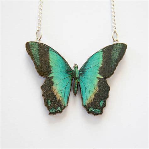 kiera wooden butterfly necklace by ladybird likes