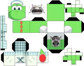 Yoshi Papercraft - yoshi 3ds commercal paper free printable papercraft