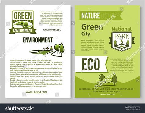 Nature Ecology Green Environment Posters Brochure Stock Vector 687879958 Shutterstock Environment Brochure Template