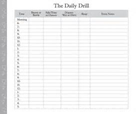 Baby Routine Template by Printable Feeding Form Day In The Daily Log