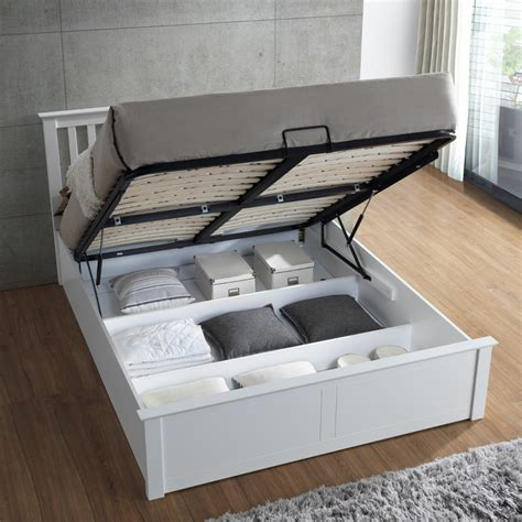 wood ottoman bed malmo white wooden ottoman bed